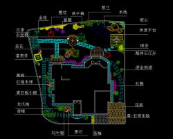 小庭院景观绿化设计平面施工图