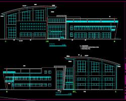 三层框架结构体育馆建筑施工图(含结构,水电暖图)