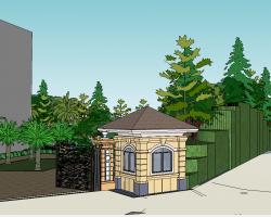 欧式风格庭院SketchUp模型