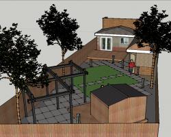 别墅庭院景观SketchUp模型