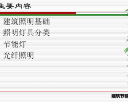 建筑电气节能培训讲义(PDF格式)35P