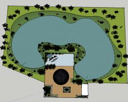 小游园景观SketchUp模型