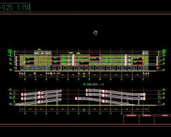 某主题公园三层框架结构立体停车库建筑结构施工图纸