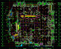三层现浇钢筋混凝土框架结构综合购物中心全专业施工图纸(建筑结构水电暖)