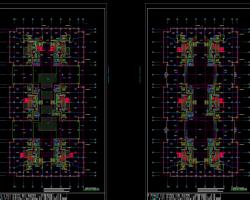 九层框架剪力墙混合结构会馆改造项目电气施工图纸(含PDF版)