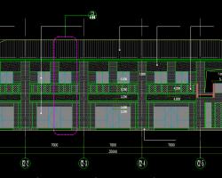 高校校园商业街建筑施工图纸(CAD)