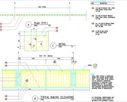76套围墙栏杆CAD施工图纸