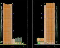 国际贸易中心建筑结构水电暖施工图纸(全专业)