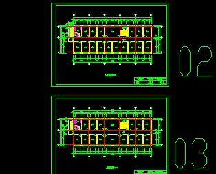 某三层办公建筑工程暖通施工图纸