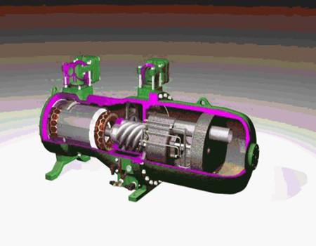 齿轮零件图_螺杆压缩机工作原理及结构比较 - 暖通论文 - 土木工程网