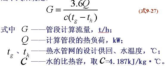 热水热网的水力计算方法与实例
