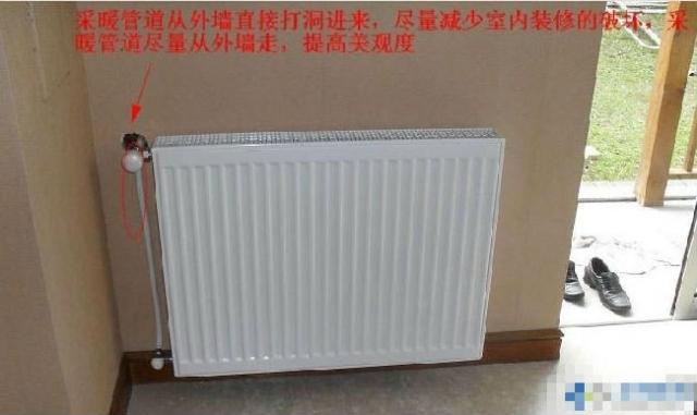 图解别墅采暖管道安装