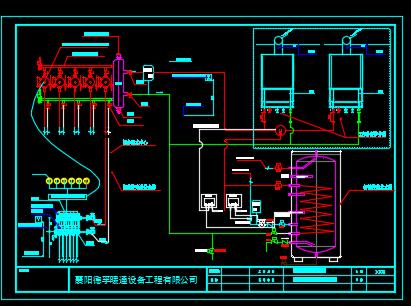 别墅地暖热水系统设计图纸
