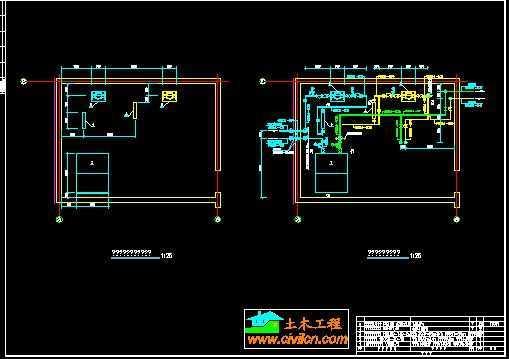 别墅土壤源热泵机房图