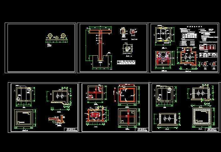 供热阀门管道井建筑结构标准图及支架砼管道图纸窗PC中图片