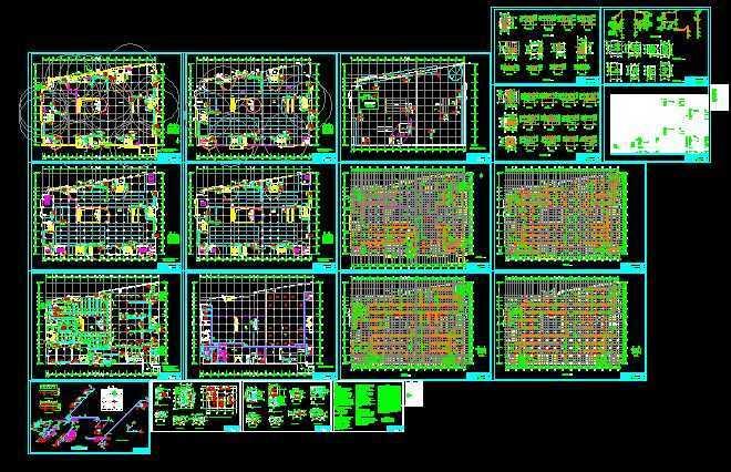 建材商场中央空调暖通设计图