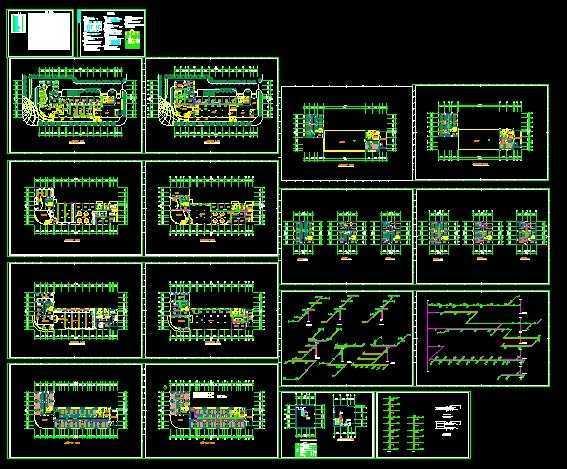 某宾馆中央空调设计平面图