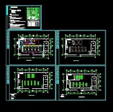 地源热泵中央空调机房施工图设计
