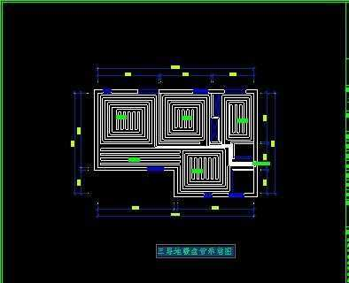 310平米暖通图纸CAD免费下载-+别墅地暖-+土cad几何图形设置图片