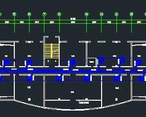 某办公楼四层空调风时间设计图免费下载ppt的设计素材轴系统图片