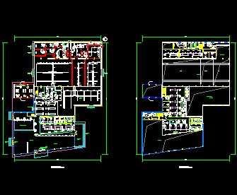 某汽车展厅中央空调平面图