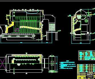 某锅炉房蒸汽锅炉设计图
