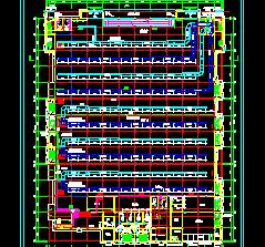 四层大型商场空调设计图纸