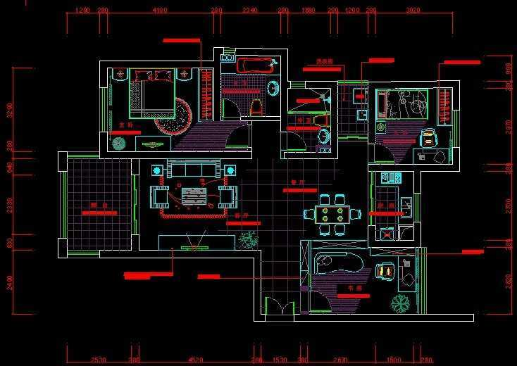 家具陈设平面图
