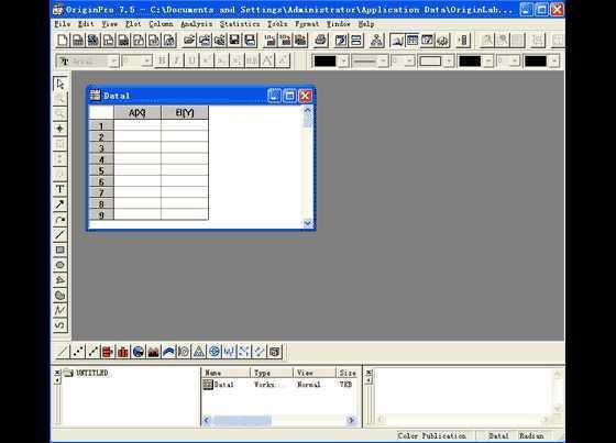 Origin 7.5 新增主要功能 Origin 新的导入向导(Import Wizard)提供可视化的反馈。主题复制和粘贴格式分组数据绘图格式化绘图设置对话框工作表计算的自动更新用于标记标签的非线函数样式工具栏曲线支持向项目中添加附件可编程的 Origin C 语言对话框自动服务器支持 解压缩就能用!不用注册,取消就行了,第一次会出来,以后就不出来了,一样用。