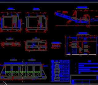 某泄水闸结构设计图