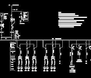 某分洪閘電氣主接線圖