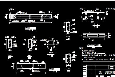 泵站梁板水闸设计图免费下载-闸门配筋c设计思想图片