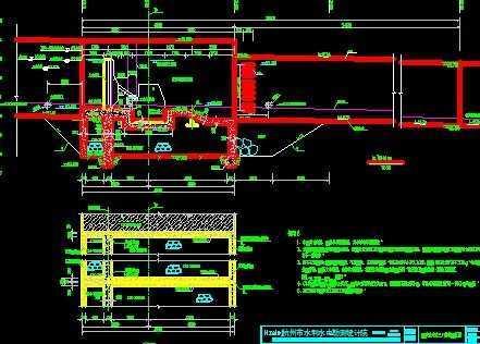 自来水进水口翻板坝工程施工图