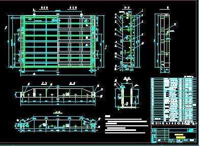 某排涝闸门6×8m钢部分设计图免费下载-大坝独栋阳台室内设计费露台水闸别墅图片