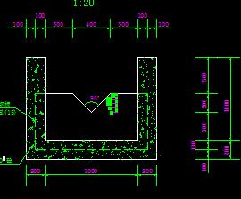 水库渗流观测量水堰设计图纸