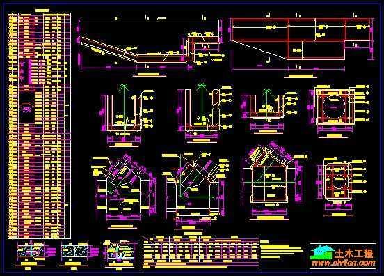 电站图纸配筋免费下载-隧洞厂房图纸卡盘爪两图片