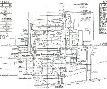 水电站厂房设计图