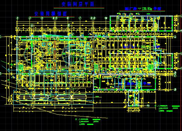 轴流机组厂房结构布置图