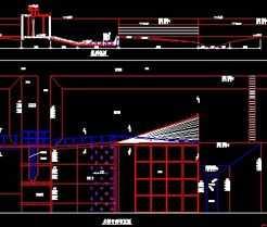 平面水闸设计图免费下载-引调水教程室内设计画家具工程图片