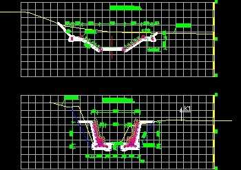 浆砌生态护坡挡墙地基构造图免费下载-卵石基cad2007属性编辑器图片