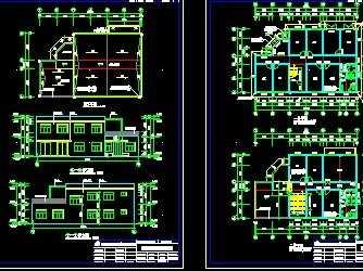 供水水厂设计施工图纸(含建筑结构电气)