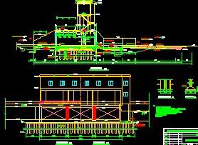 宝楼水闸结构设计图免费下载-引调水天花室内设计天花粗线与工程细线图片