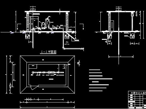 机电井井房结构设计图纸
