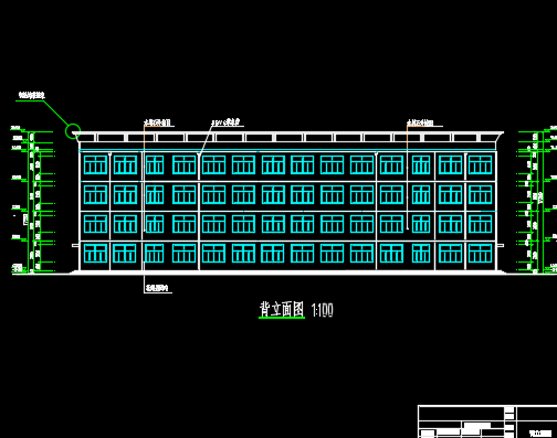 3500平米四层框架结构办公楼毕业设计(含图纸、计算书)
