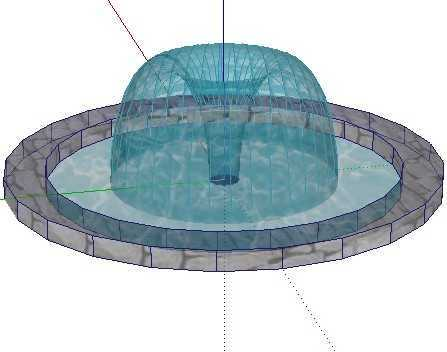 喷泉模型免费下载 - sketchup
