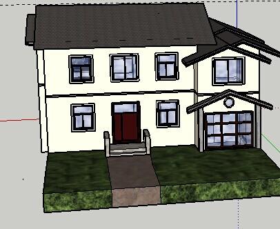 别墅sketchup 模型免费下载