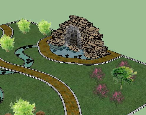 假山SketchUp模型