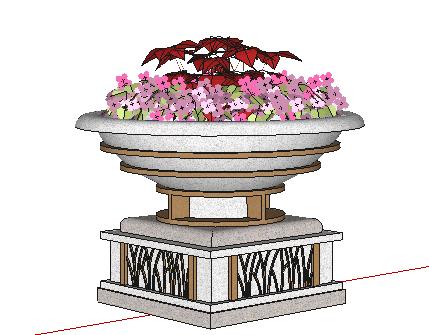 欧式花钵SketchUp模型