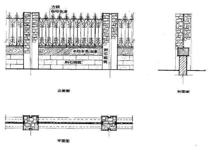 园林围墙设计图集