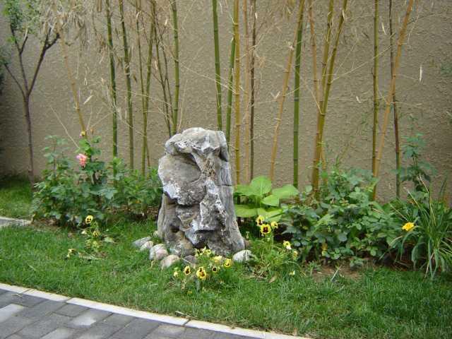 """造景石的种类 太湖石 运用较早且广泛,如北宋开封的假山""""艮垦""""、上海豫园的""""玉玲珑""""、苏州留园的""""冠云峰""""、南京瞻园的""""仙人峰""""等都是太湖石的名石。又如方塔园的五老峰,也是太湖石的珍品,具""""皱、漏、透、瘦"""",形状酷似老翁,鉴石专家据此为每尊石峰起了名字,由东北向西南依次为迎客老头、矮老头、高老头、瘦老头、送客老头。这便是神似带来的意趣,人们曾这样歌颂五老峰的特点:""""皱漏透瘦"""